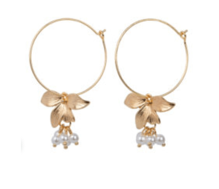 Jewelery by Hinth Hoops Flowers