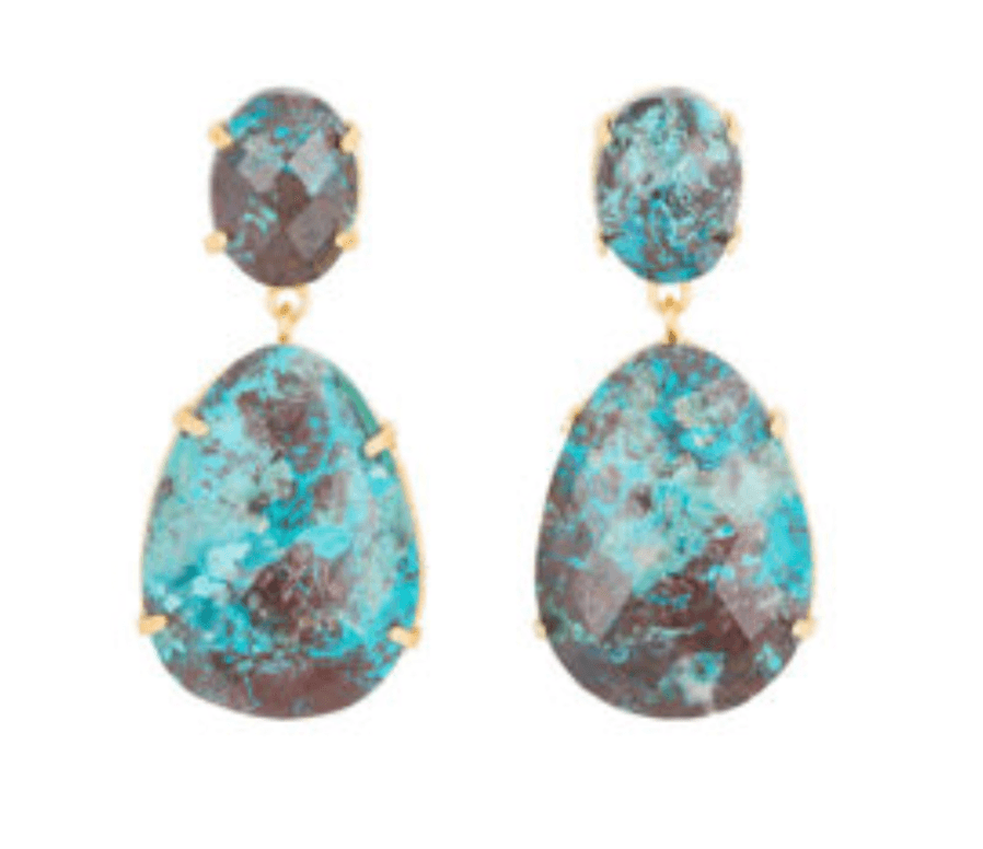 Jewelery by Hinth stones drop Chrysocolla
